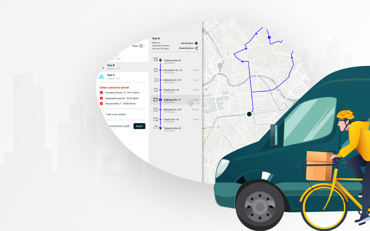 Supporting businesses during the coronavirus crisis: Free route- and delivery-planning tool